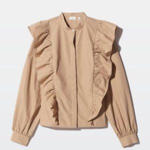Wilfred Tops - Wilfred panthere button up blouse with ruffles